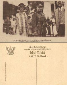Their Royal Highnesses of Thailand (RAMA VI) King Vajiravudh  and Queen Indrasakdi Sachi พระบาทสมเด็จพระปรเมนทรมหาวชิราวุธฯ พระมงกุฎเกล้าเจ้าอยู่หัว และ สมเด็จพระนางเจ้าอินทรศักดิศจี พระวรราชชายา in Selangor, Malaysia 1920s