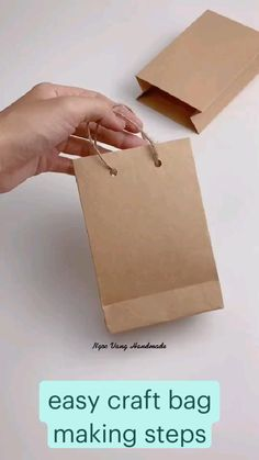 Diy Crafts For Home Decor, Easy Paper Crafts, Diy Crafts For Gifts, Diy Paper Bag, Paper Gifts, Handmade Birthday Gifts, Paper Flowers Craft, Creative Gift Wrapping, Diy Gift Box