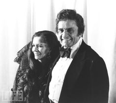 Johnny Cash and June Carter Cash at the 1980 Grammy Awards.
