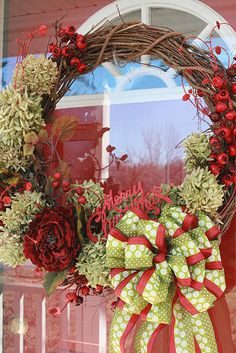 Christmas Wreath - smaller bow perhaps