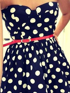 Neck less Lovely Polka Dot Mini Dress