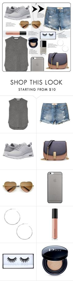 """Ready, Set, Styled"" by belleshines ❤ liked on Polyvore featuring Alexander Wang, Hollister Co., NIKE, WithChic, Native Union, Ippolita, Bare Escentuals, Huda Beauty, Christian Dior and Chanel"