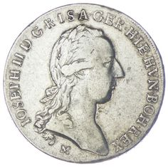 Kronentaler 1787 M RDR Haus Österreich Josef II. 1765/80 - 1790,