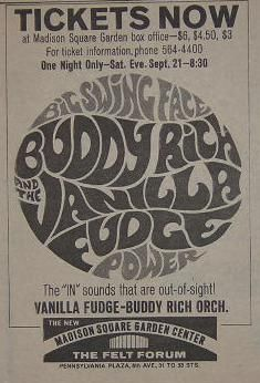 Buddy Rich (with Vanilla Fudge! Band Posters, Music Posters, Concert Posters, Film Posters, Typography Letters, Lettering, Band Website, Vanilla Fudge, Ticket Stubs