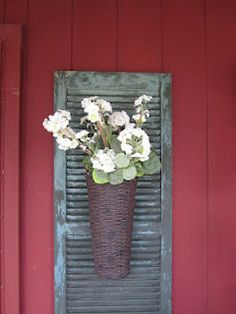 15 Uses For Old Shutters - Christinas Adventures 15 creative uses for old shutt. 15 Uses For Old Shutters – Christinas Adventures 15 creative uses for old shutters – lots of D Diy Shutters, Window Shutters, Repurposed Shutters, Old Wooden Shutters, Rustic Shutters, Room Window, Country Decor, Rustic Decor, Farmhouse Decor