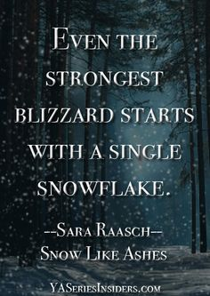 ~ Sara Raasch, SNOW LIKE ASHES  via YASeriesInsiders.com