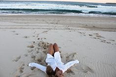 Lying on the beach...heaven. Is there a better place to take a load off. I'm going with, no...