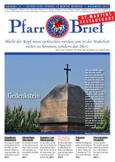 Pfarrbrief St. Martin Wegberg im November 2013. Der Gedenkstein. Mehr Info: http://homepage.sanktmartinwegberg.de/?page_id=35