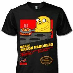Pancakes And Bacon, Adventure Time, Mens Tops, T Shirt, Women, Cartoon, Supreme T Shirt, Tee Shirt, Finn The Human