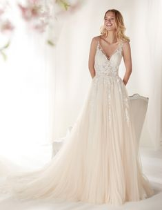 Colored Wedding Gowns, Bridal Wedding Dresses, Tulle Dress, Lace Dress, Short Long Dresses, Beautiful Gowns, Marie, Ideias Fashion, Prom Dresses