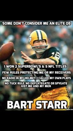 Repost ・・・ Remembering the legend on this Green & Gold Friday 💚💛 gopackgo bartstarr packers packersnation nfl football Packers Seahawks, Packers Baby, Go Packers, Green Bay Packers Fans, Packers Football, Greenbay Packers, Seattle Seahawks, Packers Memes, Packers Funny