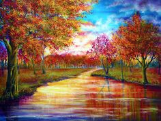 ann marie bone art   When September Ends Painting