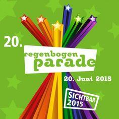 """""""Sichtbar 2015"""" – unter diesem ans erste Paradenmotto angelehnten – Slogan wird am 20. Juni 2015 die Regenbogenparade zum 20. Mal über die Wiener Ringstraße ziehen."""