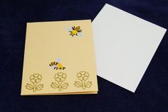 small bee greetings card by LittleInsect on Etsy £0.99