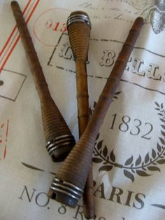 French, Vintage Wooden Spools