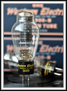 Western Electric 300B. The most over-hyped audio tube. Originally designed for reliability in telephone modulation circuits, it was used briefly in early movie sound amplifiers (1920s). Audiophiles somehow think it sounds superb. Stereo telephone, anyone?