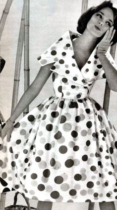 Polka Dot Dress ♥ 1959  LOVED THIS LOOK BACK THEN