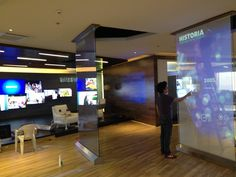 Touch interaction glasses at Samsung Hedquarters in mexico City by Random Interactive