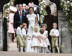 James Matthews and Pippa Middleton pose with their pageboys and bridesmaids at St. Mark's Church in . Bridesmaids, Bridesmaid Dresses, Wedding Dresses, Pippas Wedding, Pippa And James, James Matthews, Elisabeth Ii, Page Boy, Pippa Middleton