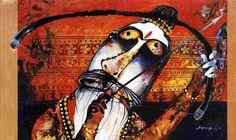 Dolna code: SB015 Archer by Sadananda Bhuti. Acrylic on canvas on, 24 x 40(inches), Price INR 85,000.