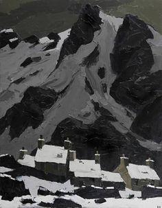 """Snow at Gwastadnant"" by Sir Kyffin Williams, 1969"