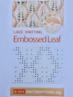 The Embossed Leaf is a very nice and useful stitch pattern for you to learn. I used it for other projects, such as scarves, hats, pillows and blankets. Leaf Knitting Pattern, Lace Knitting Stitches, Knitting Machine Patterns, Knitting Blogs, Knitting Charts, Knitting Socks, Knitting Projects, Cheap Yarn, Crochet Yarn