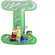 Alfabeto de IntensaMente Abc For Kids, Luigi, Tricks, Party Time, Symbols, Christmas Ornaments, Holiday Decor, Marti, Template