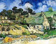 Vincent Van Gogh - Post Impressionism - Auvers - Chaumières à Cordeville - 1890