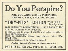 Dry-Pits Lotion.  Really, they couldn't think of a better name?
