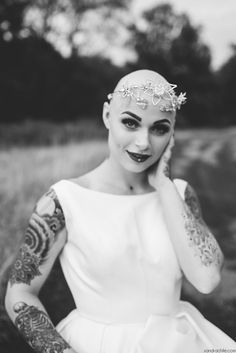 Bald Bride with Alopecia, by Sandrachile #BaldBride Her beauty is stunning! -fhb