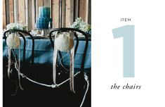 How to Style a Wedding Table // By Cassandra LaValle // Item One: The Chairs
