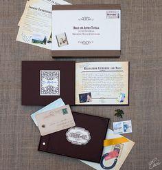 """the """"scrapbook invitation"""" it a neat idea...   Catherine & Nate - Luxury Wedding Invitations - Daring - Ceci Couture - Ceci Wedding - Ceci New York"""
