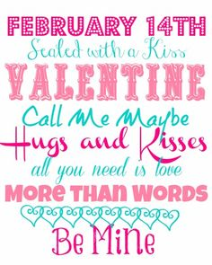 Blue Skies Ahead: Valentines Day Printable!
