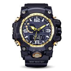 Men's Fashion Date Alarm Led Waterproof Sports Watch Shock Digital Wrist Watches Sport Watches, Watches For Men, Wrist Watches, Led, Waterproof Sports Watch, Digital Wrist Watch, Silver Pocket Watch, Gold Accessories, Watch Box