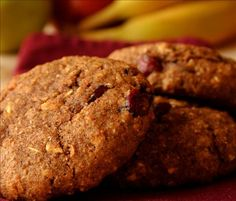 Pumpkin Cranberry Breakfast Cookie from Food.com:   								This is a variation on a breakfast cookie from Jennifer at Allrecipes.com. I made these up as I have tons of pumpkin and I love pumpkin anything, try these they are nice and soft and spicy.