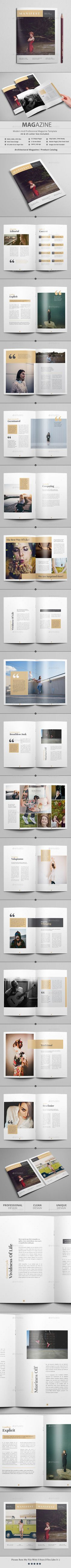 Manifest Magazine / Lookbook by Al-Mamun Specification:You Can use this Magazine for any type ofFashion Company, Modeling, Multipurpose, Design House,Product etc Indesign