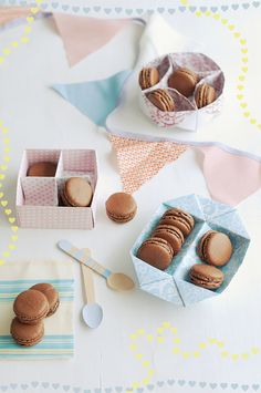 Chocolate Macarons with Dark Chocolate Ganache
