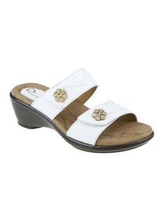 Love this White Ravia Leather Sandal by Earth Origins on #zulily! #zulilyfinds