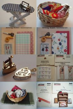 Dollhouse Sewing Room Accessories
