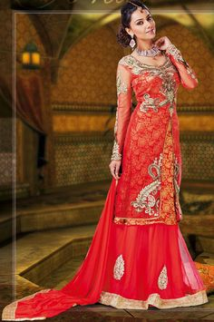 Coral Net #Indian #wedding #Dresses | @ $139.97