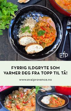 FYRRIG ILDGRYTE SOM VARMER DEG FRA TOPP TIL TÅ! (FEUERTOPF) Ketchup, Bon Appetit, Chili, Bbq, Ethnic Recipes, Food, Pineapple, Red Peppers, Barbecue