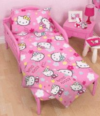 HELLO KITTY ~ Toddler/Cot Bed Quilt Set