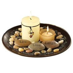 A candle zen garden for peace and love on Earth
