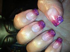 Purple/pink nails