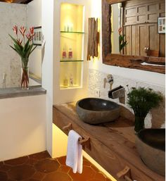 decorar banheiro rustico