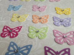 Hanmade paper punched Butterflies  by PaperCraftingByMandy on Etsy, $3.99