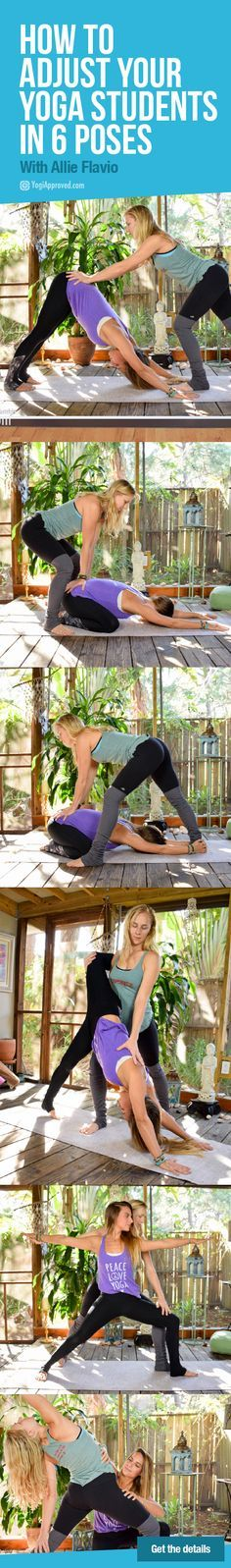 How to Adjust Your Yoga Students in 6 Poses