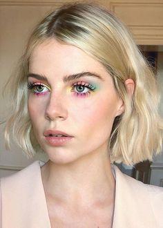 Summer Highlighter Makeup – – Sommer Textmarker Make-up – – – Make Up Looks, Make Up Simple, Beauty Make-up, Hair Beauty, Beauty Base, Beauty Blogs, Beauty Dupes, Sombra Neon, Makeup Eye Looks