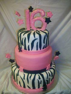 sweet 16 cakes zebra