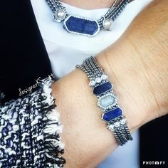 I dressed up for work today, so I'm wearing my elegant multi strand keepers in silver for a polished, professional look. The necklace features a blue Aventurine stone geo bar flanked by pearl solitaires. On my bracelet, I'm wearing the beautiful new pavé set moonstone centered against blue Aventurine mini geo bars and sparkle trios in silver. Message me for design assistance or to schedule a social. #keepcollective #kotd #ikeephappy #shophostjoin www.keepcollective.com/with/kimberlyscott